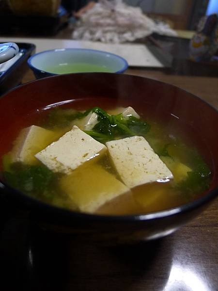 又是好多豆腐的味噌湯~好開心~