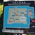 目前廣島城的平面圖