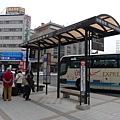 去藏王的BUS乘車處~