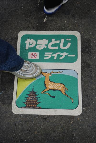今天要去奈良...要坐大和路快速~他是快車奔奈良~