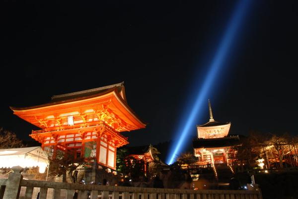 晚上清水寺打燈~