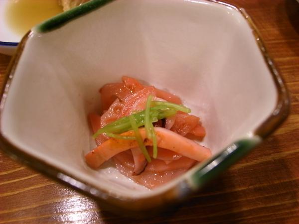 小菜是酸酸的tako腳~也好吃~
