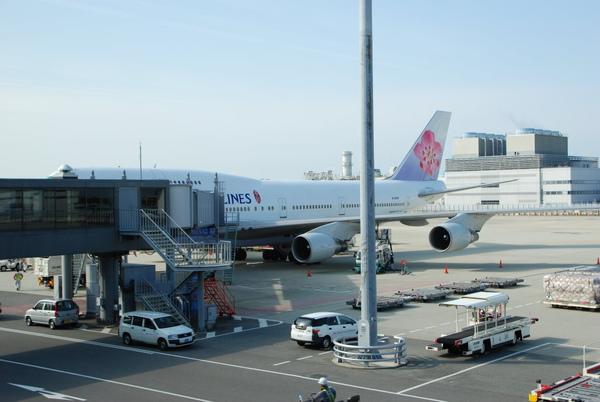 回程的飛機~變747了~~