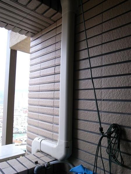 陽台冷氣的管線有包起來ㄛ