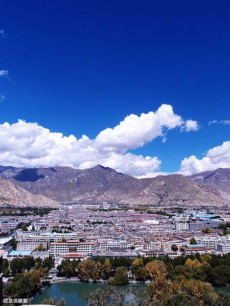 37-西藏布達拉宮遠眺拉薩