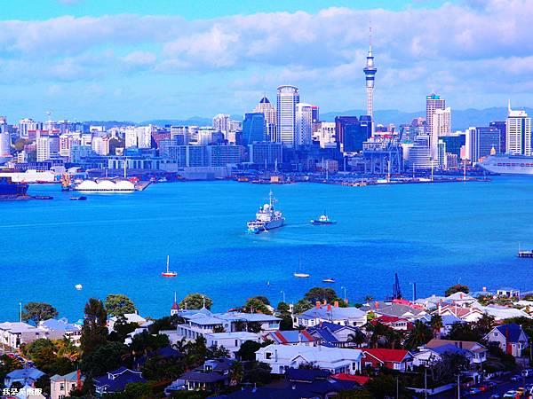 108-紐西蘭山上俯瞰奧克蘭
