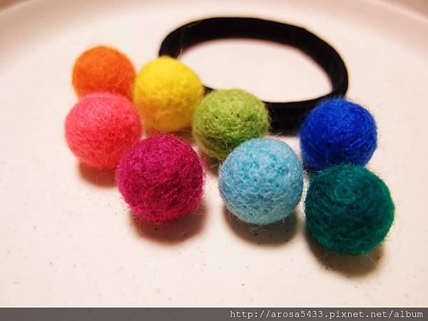 12-羊毛氈 針氈 圓球髮飾