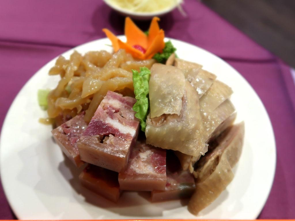 22-銀翼餐廳 空軍新生社飲食部 三拼 醉雞 肴肉 海蜇皮.JPG