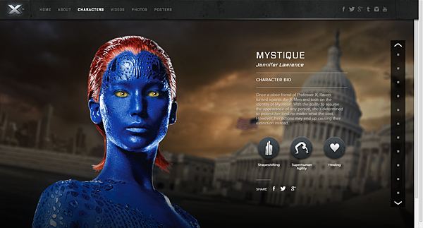 X-Men Days of Future Past - Official Movie Site - Jennifer Lawrence as Mystique