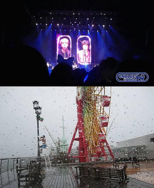人家開開心心演唱會,我在神戶風吹雨打(;_;)