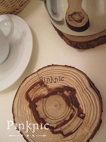野餐吧木質杯墊