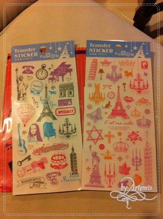 台灣出品的轉印貼紙