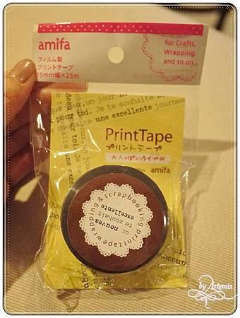 amifa print tape 透明裝飾膠帶