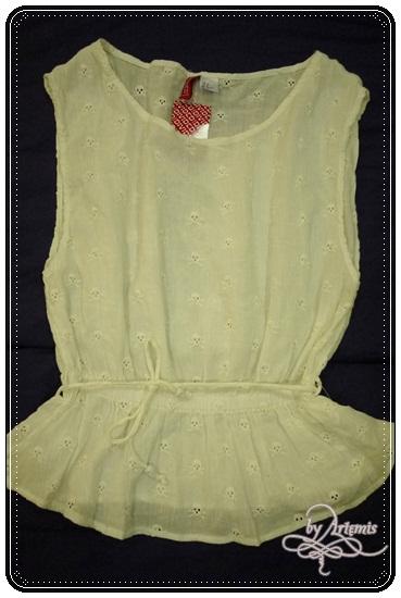H&M 刺繡骷髏top