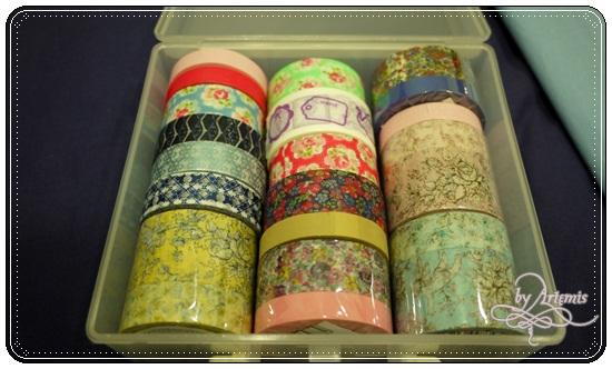 2012 AUG 新買的紙膠帶放在方形的大創收納盒