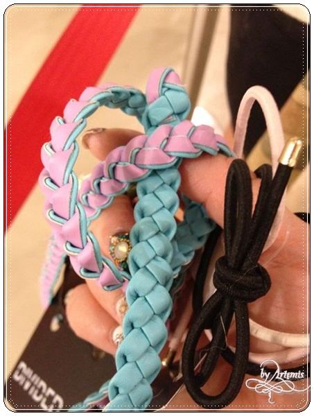 H&M 蝴蝶結髮圈/雙色皮帶