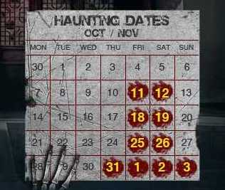Halloween Horror Nights - Resorts World Sentosa Dates