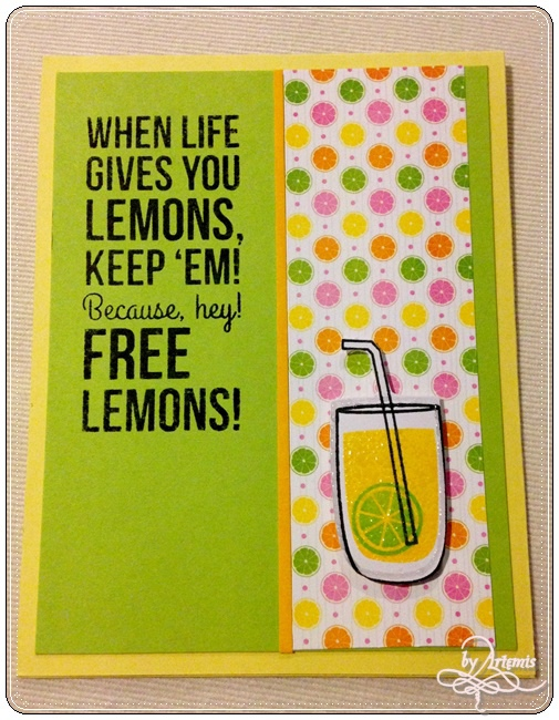Simon Says Stamp - Lemonade