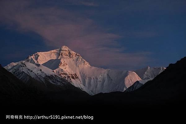 西藏-珠穆朗瑪峰(珠峰-聖母峰)-基地營-夕照.jpg