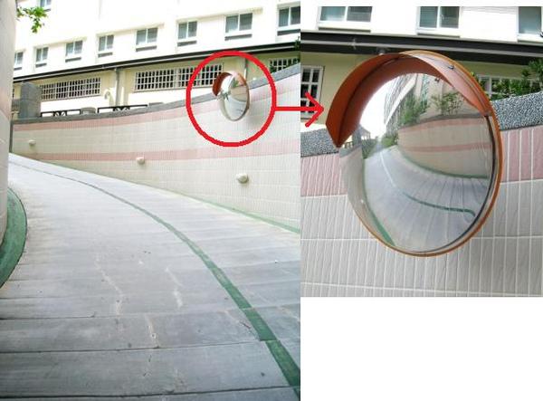 停車道及凸透鏡