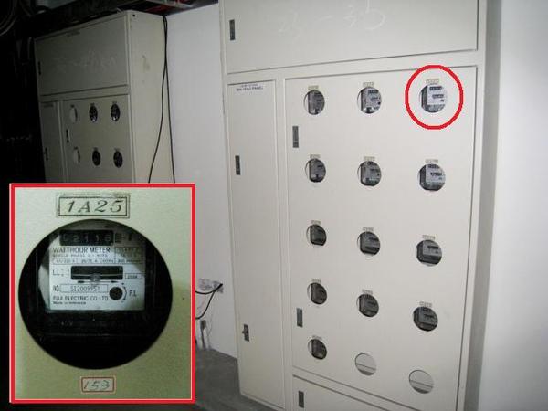 每間房間都設有電表