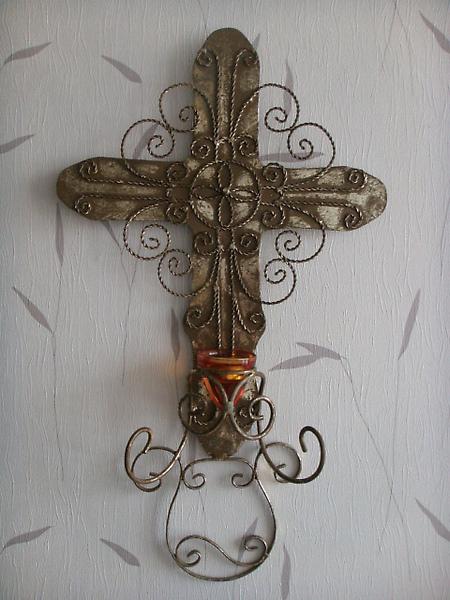 刷金十字型花式燭台-D122