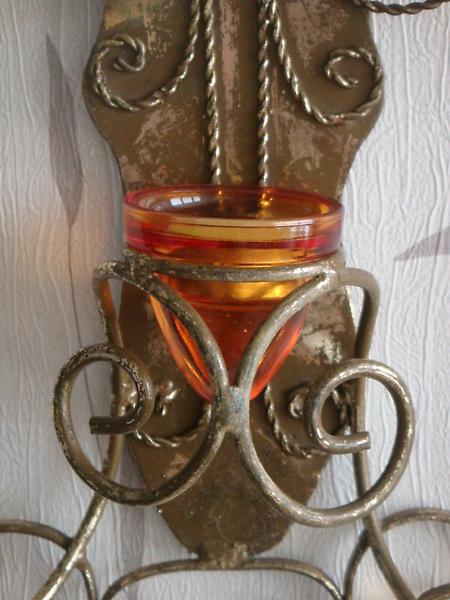 刷金十字型花式燭台-D122-1