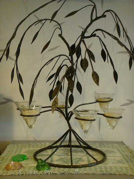 樹型六座燭台-D120