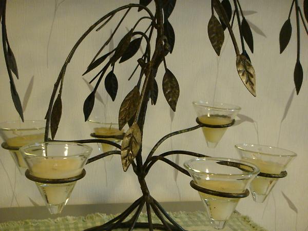 樹型六座燭台-D120-1