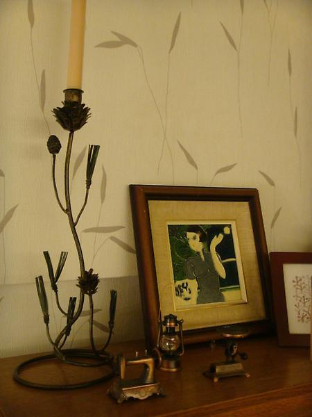 松枝狀單座燭台-D121