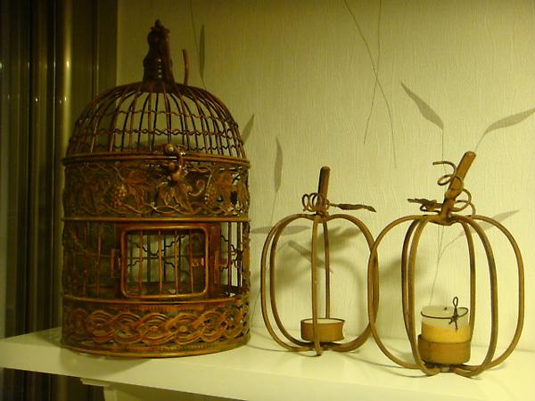 蘋果框造型燭台-D127