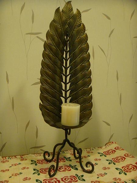 芭蕉葉型單座燭台-D118