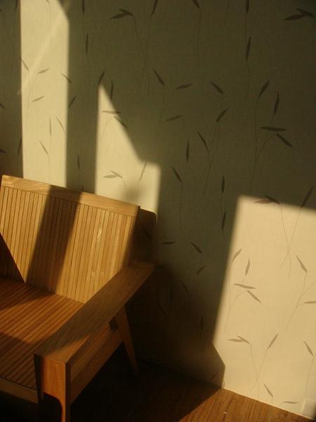 這房子不錯,坐向好,會側曬些許陽光,採光很好