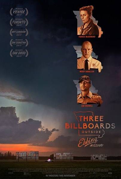 意外 Three Billboards Outside Ebbing, Missouri %2F  馬丁麥克唐納  Martin McDonagh