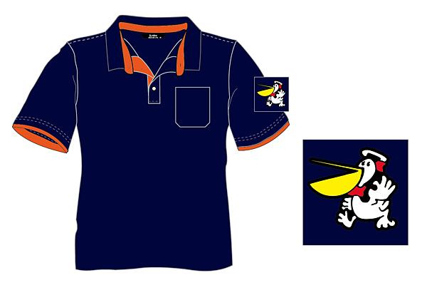 企業團體服-丹丹漢堡POLO衫設計圖