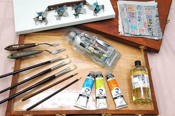 油畫工具材料