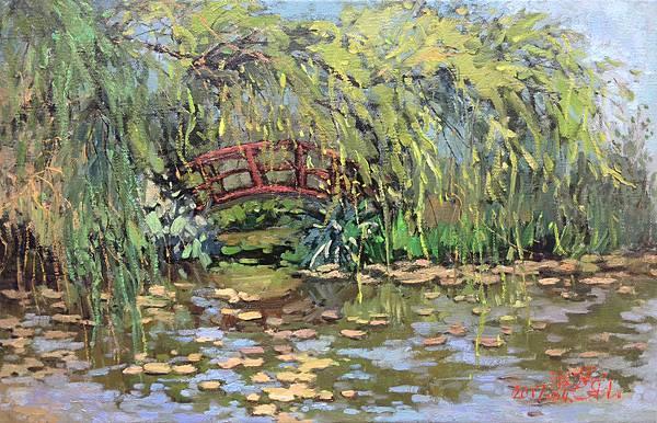 FullSizeRender觀音。莫內的花園 13M(41x63.8 cm) 油畫 2017.04.03 藝術家:林淑婷