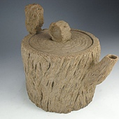 陶藝木紋壺
