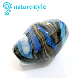 藍色岩紋琉璃珠