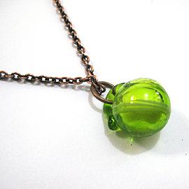 迷你琉璃香氛球手機耳機防塵塞~鮮綠(兩用可改成項鍊)