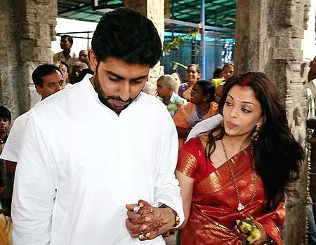 More pic of Aishwarya & Abhishek Bachchan as husband & wife