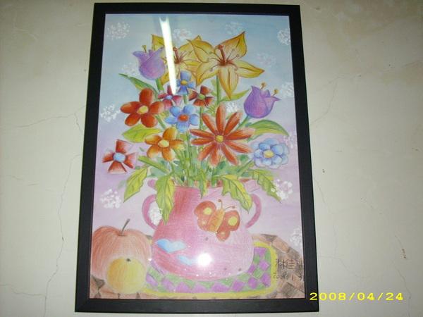 水彩畫  花瓶