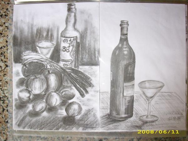 素描ㄉ酒瓶