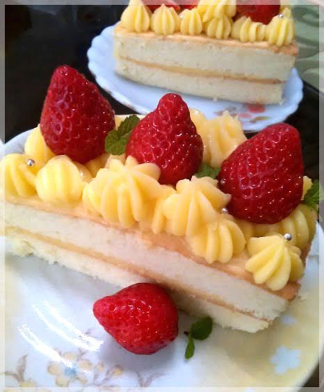 草莓卡士達蛋糕