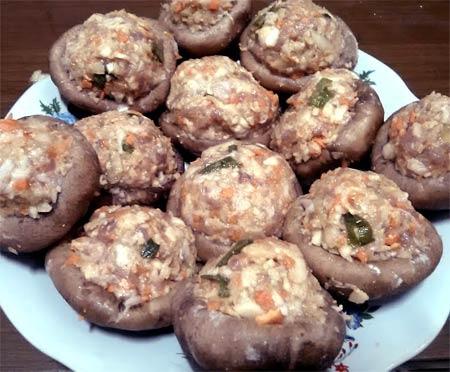 鮮菇鑲肉1
