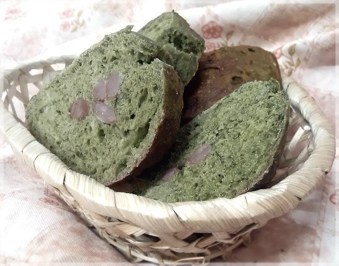 抹茶花豆歐式--