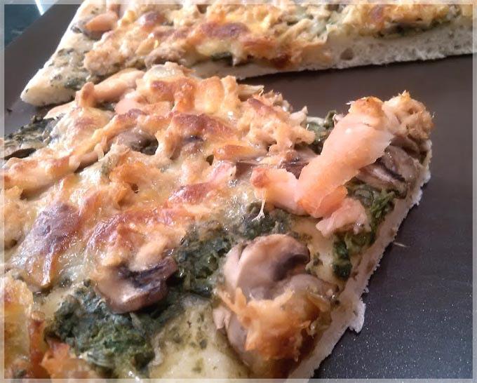 免揉披薩-青醬燻雞