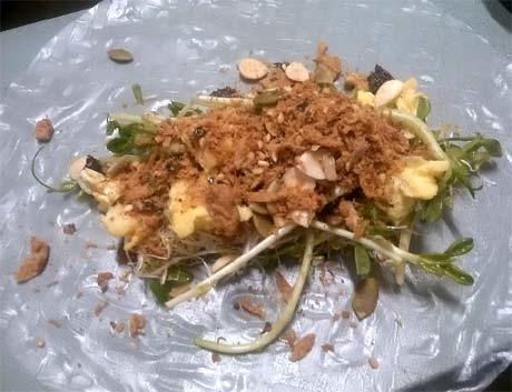 蔬食沙拉捲2