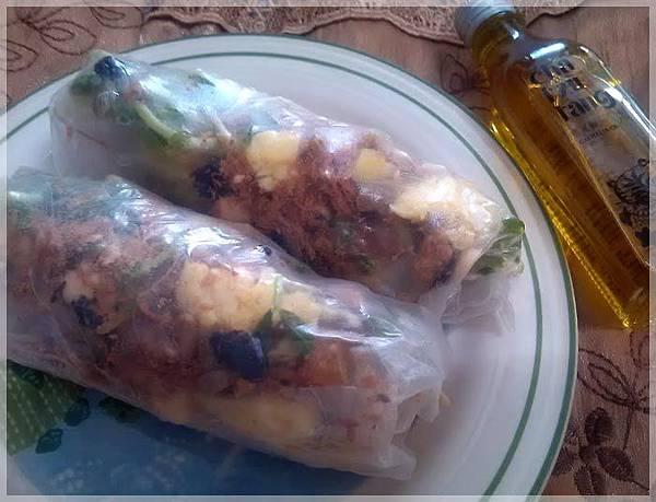 蔬食沙拉捲
