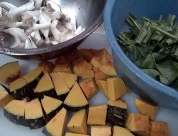南瓜濃湯麵1